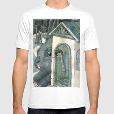 re:1 SMALL White Mens Fitted Tee