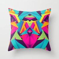 Friendly Color Throw Pillow