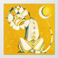 Guardian Of The Moon Canvas Print