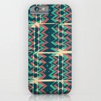Zig Zags Pattern Press Print iPhone 6 Slim Case
