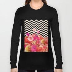 Chevron Flora II Long Sleeve T-shirt