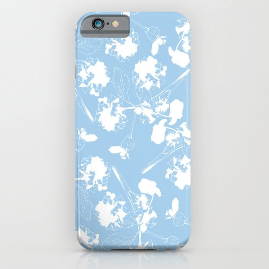 Hydranga pattern  - blue and white iPhone & iPod Case