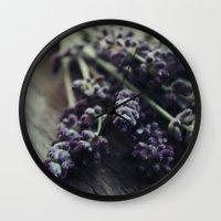 Lavender Harvest Wall Clock