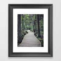 Boardwalk With Natural A… Framed Art Print