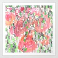Raindrops On Roses Art Print