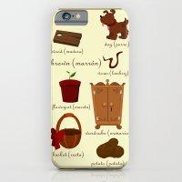 Colors: brown (Los colores: marrón) iPhone 6 Slim Case