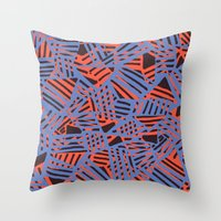 Crossover pattern Throw Pillow