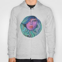 Pretty Oceanic Ombre Face Hoody