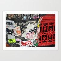 Stickers Art Print