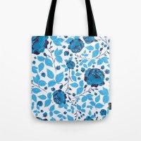 Blown Away ( Watercolor Abstract artwork, Feminine, Elegant, Black, Blue ) Tote Bag