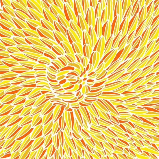 Yellow Chrysanthemum  Art Print
