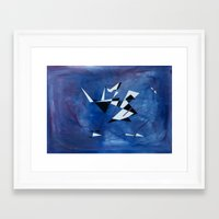 blue pattern art  Framed Art Print