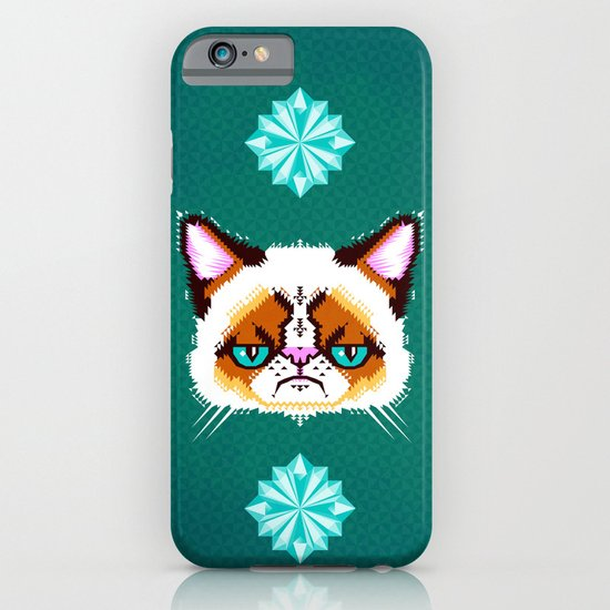 Grumpy Cat Geometric Pattern iPhone & iPod Case
