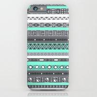 Tiffany Turquoise Aztec Print iPhone 6 Slim Case