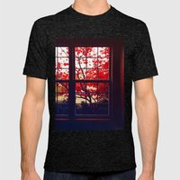 Red Japanese Maple Mens Fitted Tee Tri-Black SMALL