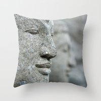 An echo of here and now Throw Pillow