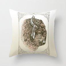 Buffalo Portrait Throw Pillow