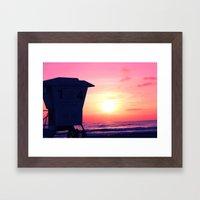 Mission Beach Sunset Framed Art Print