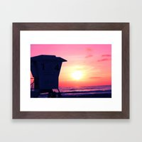 Mission Beach Sunset Framed Art Print