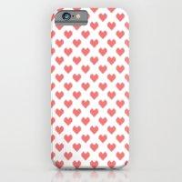 Pixel Hearts iPhone 6 Slim Case