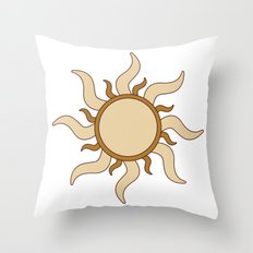 Sand Sun Throw Pillow