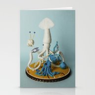Mr. White Squid, A Very … Stationery Cards