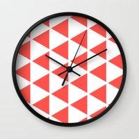 Sleyer Pink on White Pattern Wall Clock