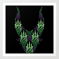SCORCH Pattern ~ Malefic… Art Print