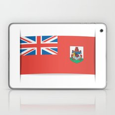 Flag of Bermuda. The slit in the paper with shadows. Laptop & iPad Skin