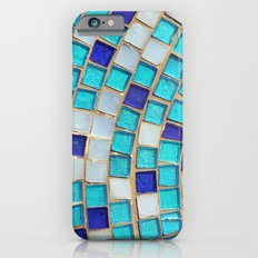 Blue Tiles - an abstract photograph. iPhone 6 Slim Case