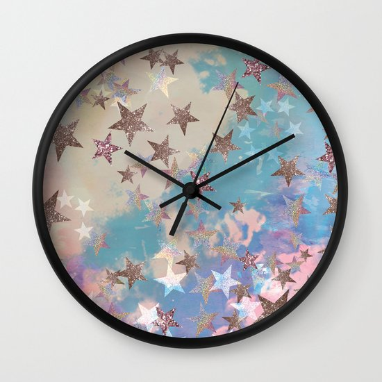 Starry Eyed Wall Clock