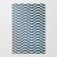 Chevron With A Twist Canvas Print