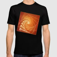 The Burning Eye Sees Spiral SMALL Mens Fitted Tee Black