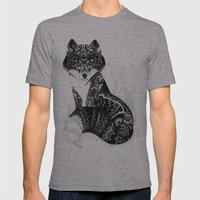 Wildlife Fox Mens Fitted Tee Athletic Grey SMALL