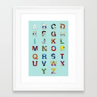 VGC alphabet Framed Art Print