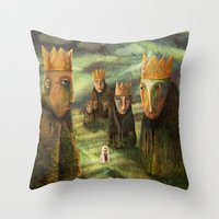 In The Company Of Kings Throw Pillow