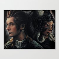 Balthier And Fran Final … Canvas Print