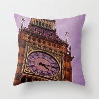 Big Ben in Purple Throw Pillow