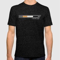 Health goes up in smoke Mens Fitted Tee Tri-Black SMALL