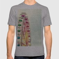 Ferris wheel Mens Fitted Tee Athletic Grey SMALL