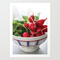 Les Radis Rouges Art Print