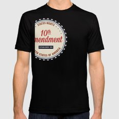 Tenth Amendment SMALL Mens Fitted Tee Black