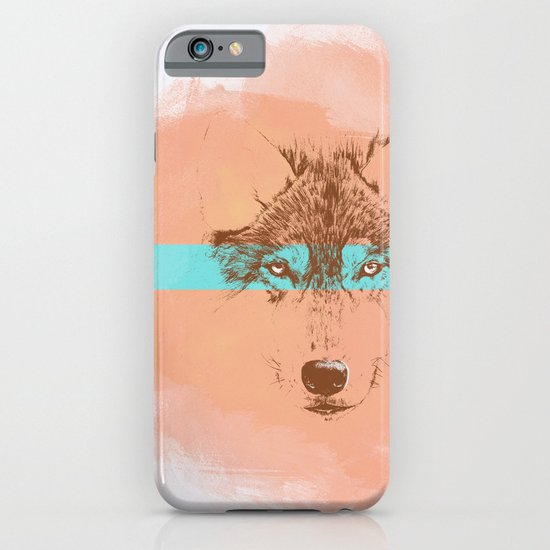 The Blue Eyed Wolf iPhone & iPod Case