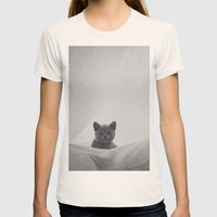 Kitten Under The Sheets Womens Fitted Tee Natural SMALL