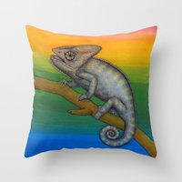 Chameleon (2) Throw Pillow
