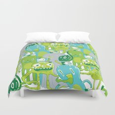 Done with Monster School! Duvet Cover