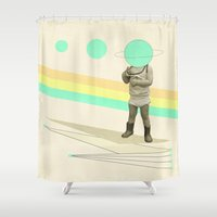 he believes he can fly Shower Curtain