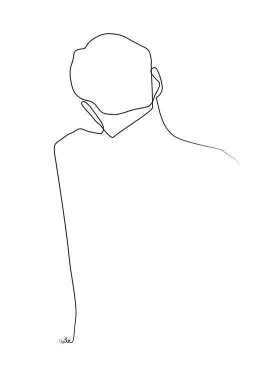 Back line Art Print