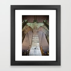 The bridge. Framed Art Print