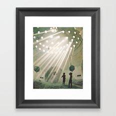 laboratory in the sky... Framed Art Print